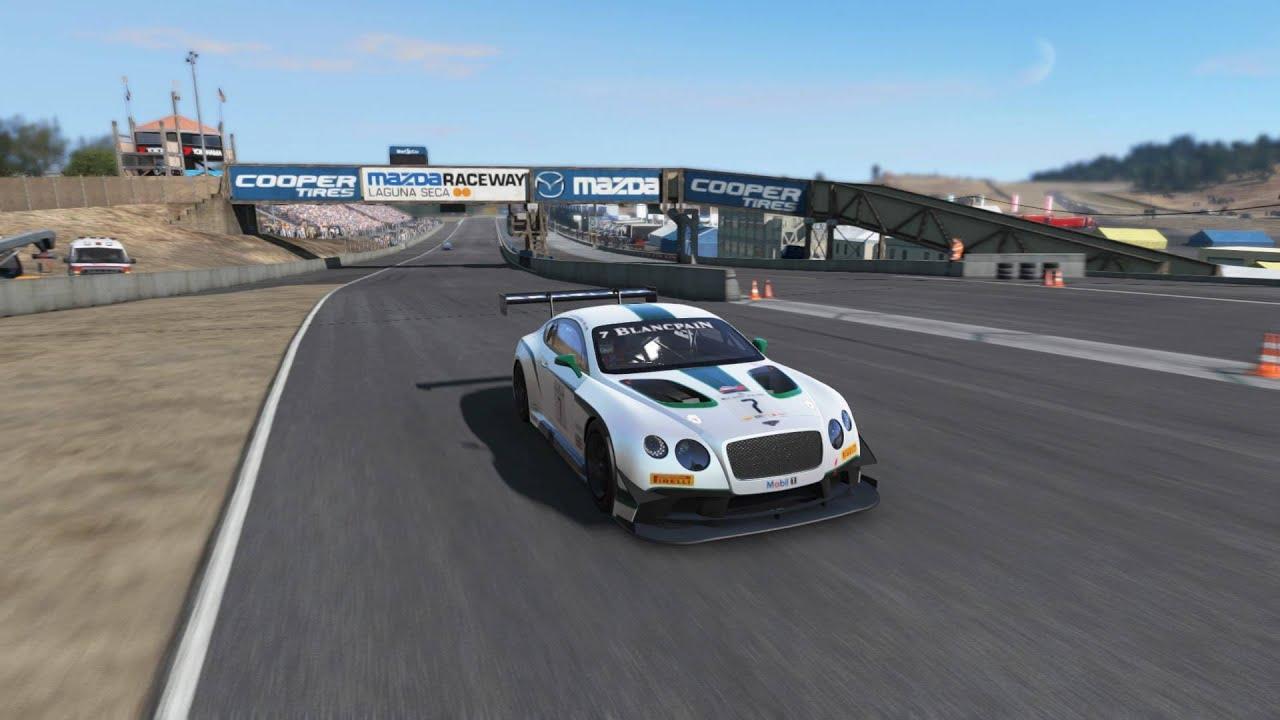 Mazda Raceway Laguna Seca >> Project Cars Mazda Raceway Laguna Seca Gt3 Race Youtube