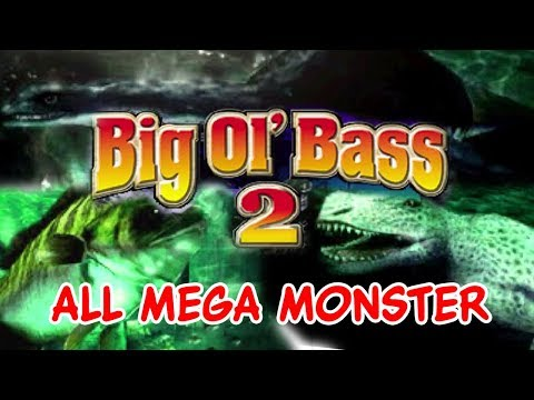ALL MEGA MONSTER FISH!!! (╬◣д◢) - Big O'l Bass 2