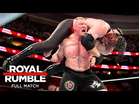 FULL MATCH - Lesnar vs. Strowman vs. Kane – Universal Title Triple Threat Match: Royal Rumble 2018