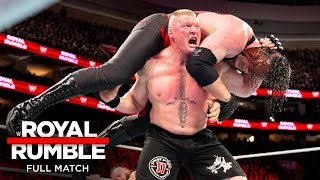 FULL MATCH - Lesnar vs. Strowman vs. Kane - Universal Title Triple Threat Match: Royal Rumble 2018