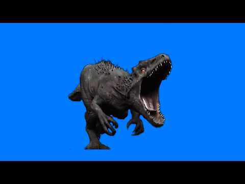 Jurassic World  Indominus Rex running on Blue Screen