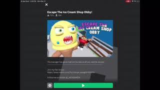 ESCAPE EVIL ICE CREAM SHOP OBBY IN ROBLOX