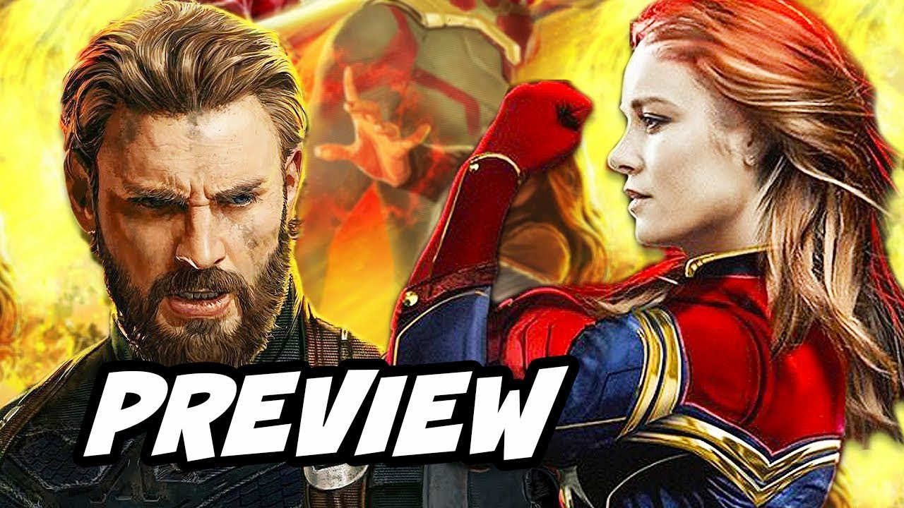 avengers infinity war captain america preview and captain marvel