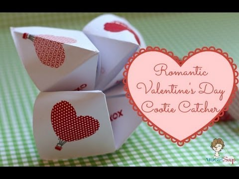 how to make a cootie catcher valentine 39 s day love note youtube. Black Bedroom Furniture Sets. Home Design Ideas