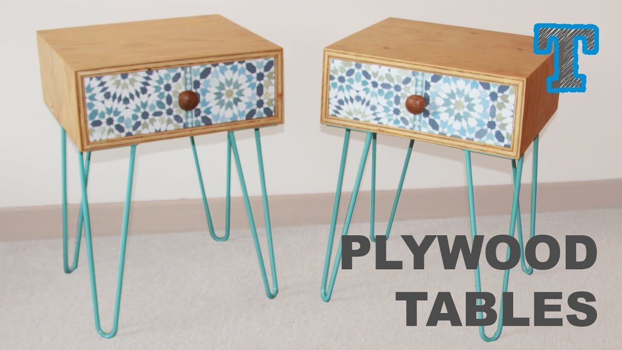 Building Plywood Side Tables | Modern Geometric Style