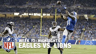 Eagles vs. Lions | Week 12 Highlights | NFL
