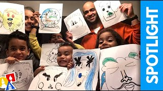 SPOTLIGHT: Family Funny Face - #stayhome and draw #withme