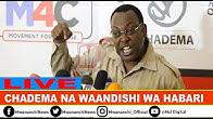 LIVE: MBOWE AKIZUNGUMZA NA WAANDISHI WA HABARI