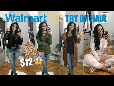 HUGE WALMART CLOTHING HAUL + TRY ON   FALL + WINTER OUTFITS 2018