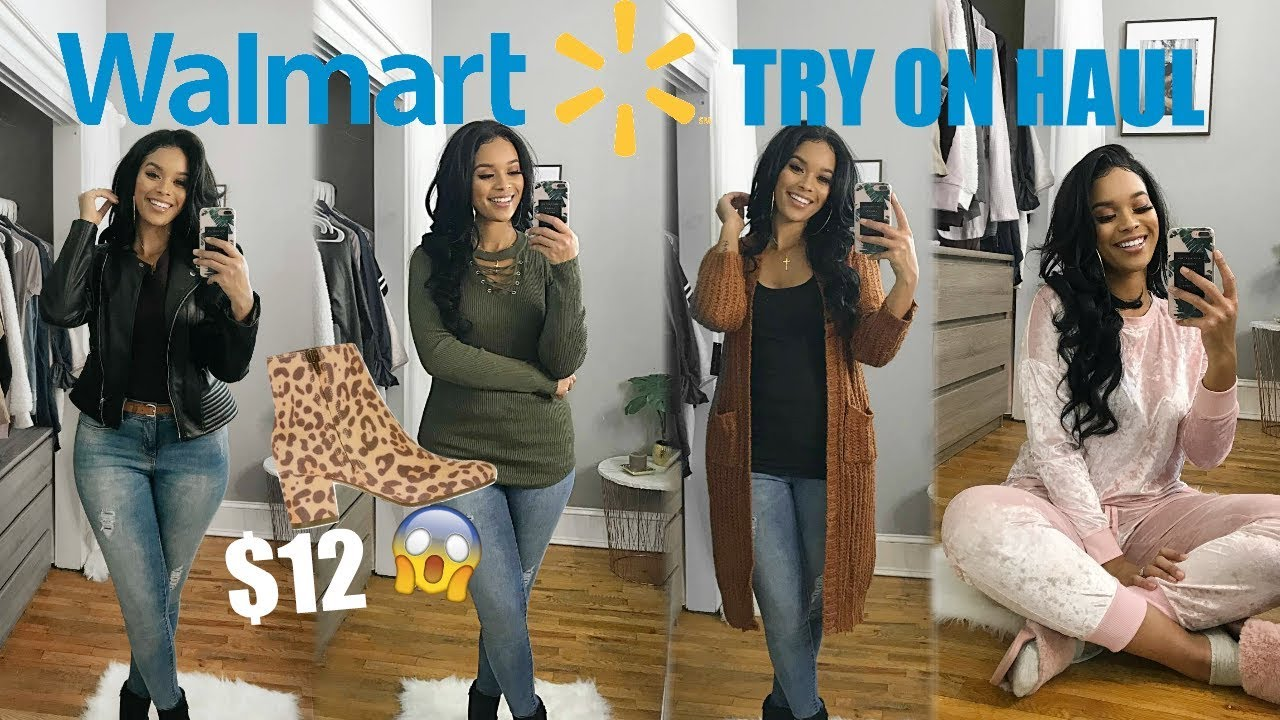 f179d3f0145c HUGE WALMART CLOTHING HAUL + TRY ON | FALL + WINTER OUTFITS 2018 ...
