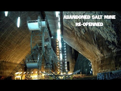 Inside a Salt Mine Walking Around  into the deep with my GoPro and Feiyu Gimble