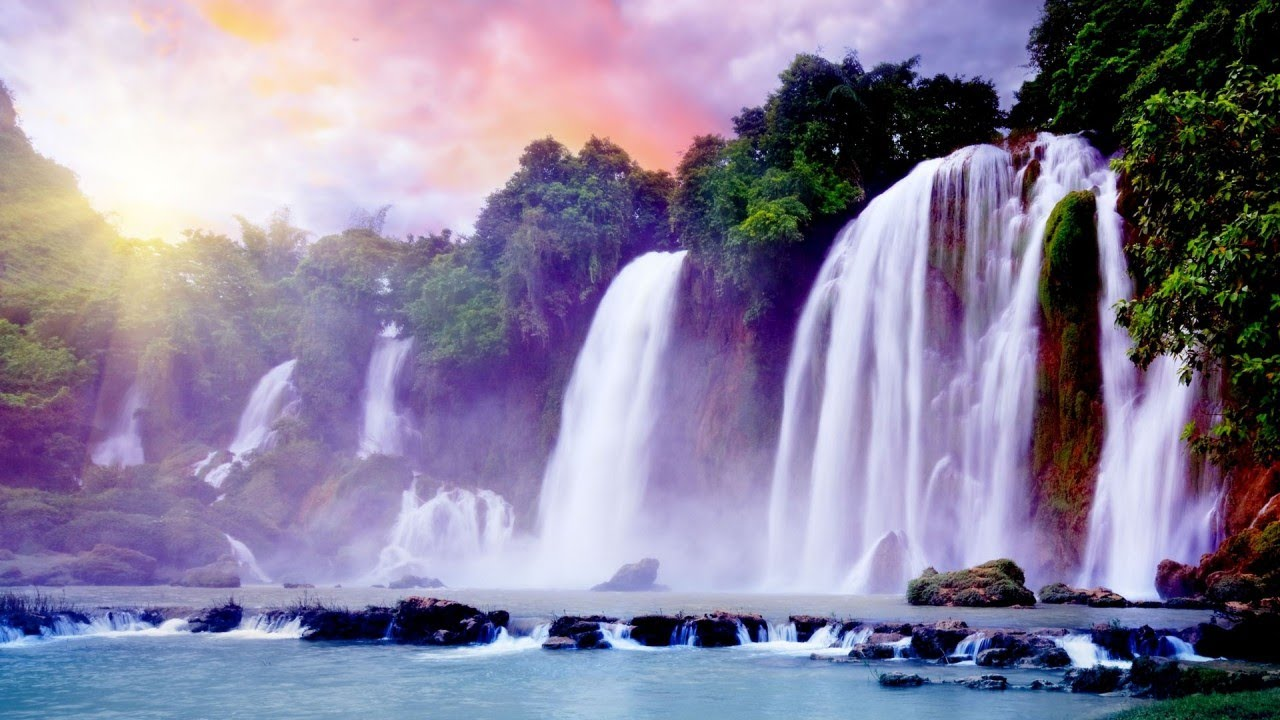 waterfalls amazing waterfall falls water pretty nice fall scenery awesome gorgeous earth spectacular beauty vietnam tropical wide photograph magnificent heaven