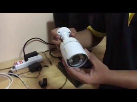 วิธีติดตั้งกล้องวงจรปิด [ใช้สายแลน + Balun]