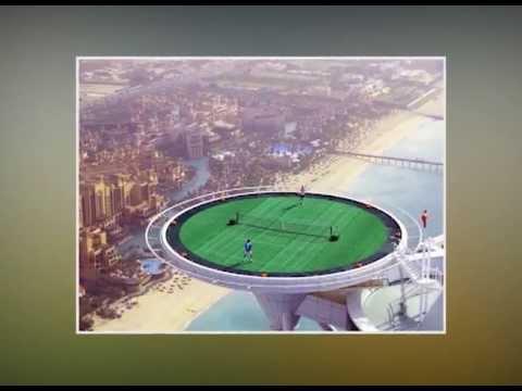 Worlds Highest Tennis Court At Burj Al Arab Dubai