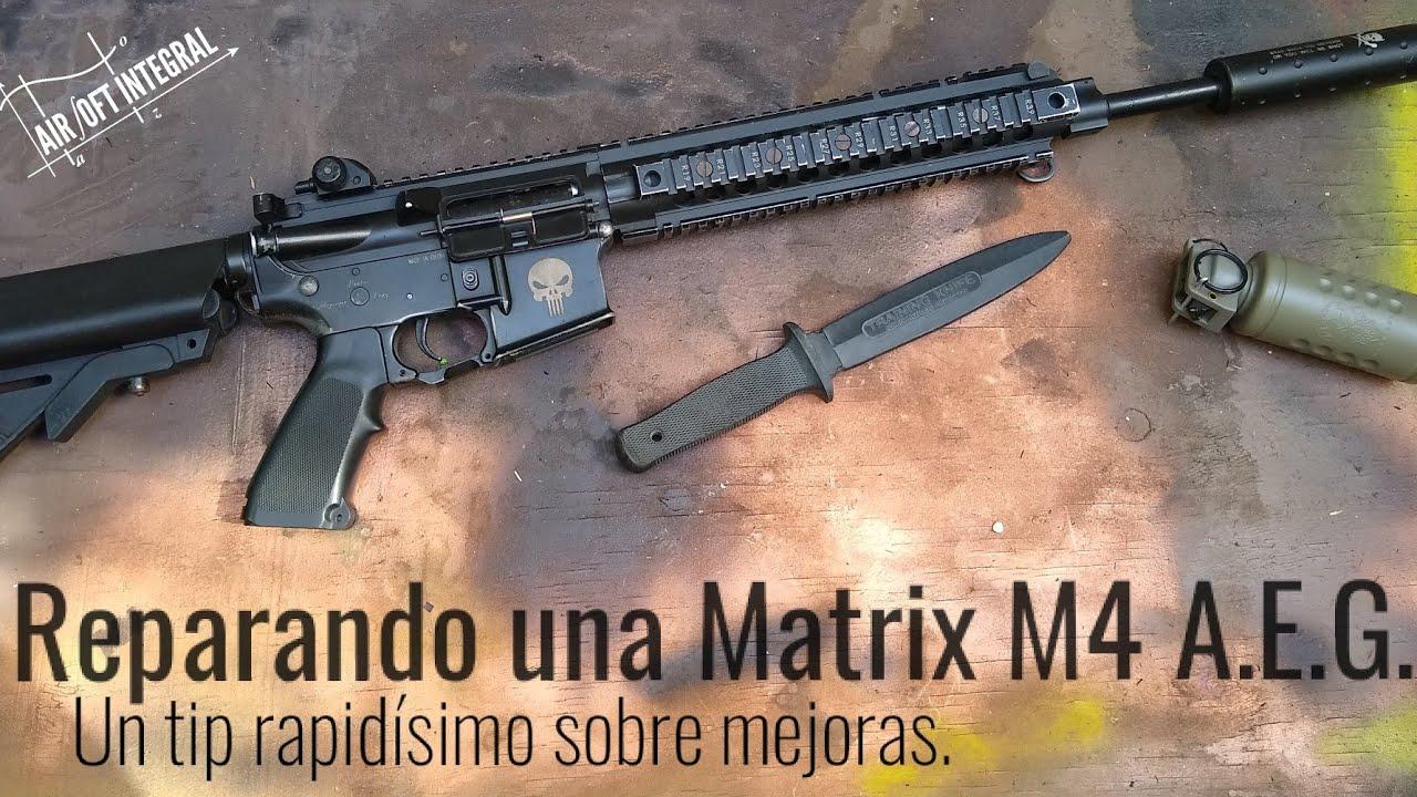 Reparación de M4 A.E.G., réplicas con mejoras, pero no mejoradas, lo que más nos llega.