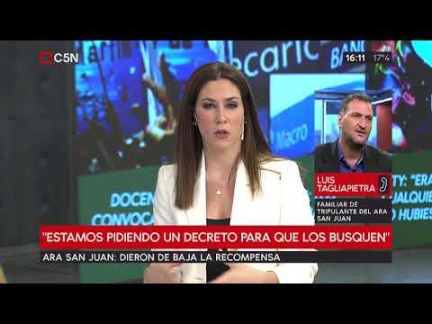Dieron de baja la recompensa por el ARA San Juan: habla Luis Tagliapietra