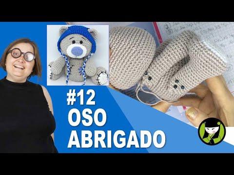 OSO NAVIDEÑO AMIGURUMI 12 oso tejido a crochet