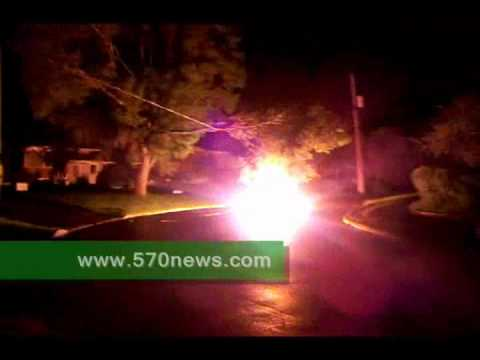 Downed power line flares in Kitchener