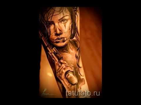Фото тату пистолет   классные варианты готовых тату с пистолетом 01 09 2016