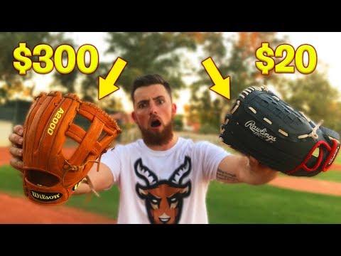 $300 Baseball Glove vs. $20 Baseball Glove! IRL Baseball Challenge Mp3