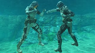 EXTREME FIST FIGHT UNDER WATER! (Black Ops 3 Minigames)