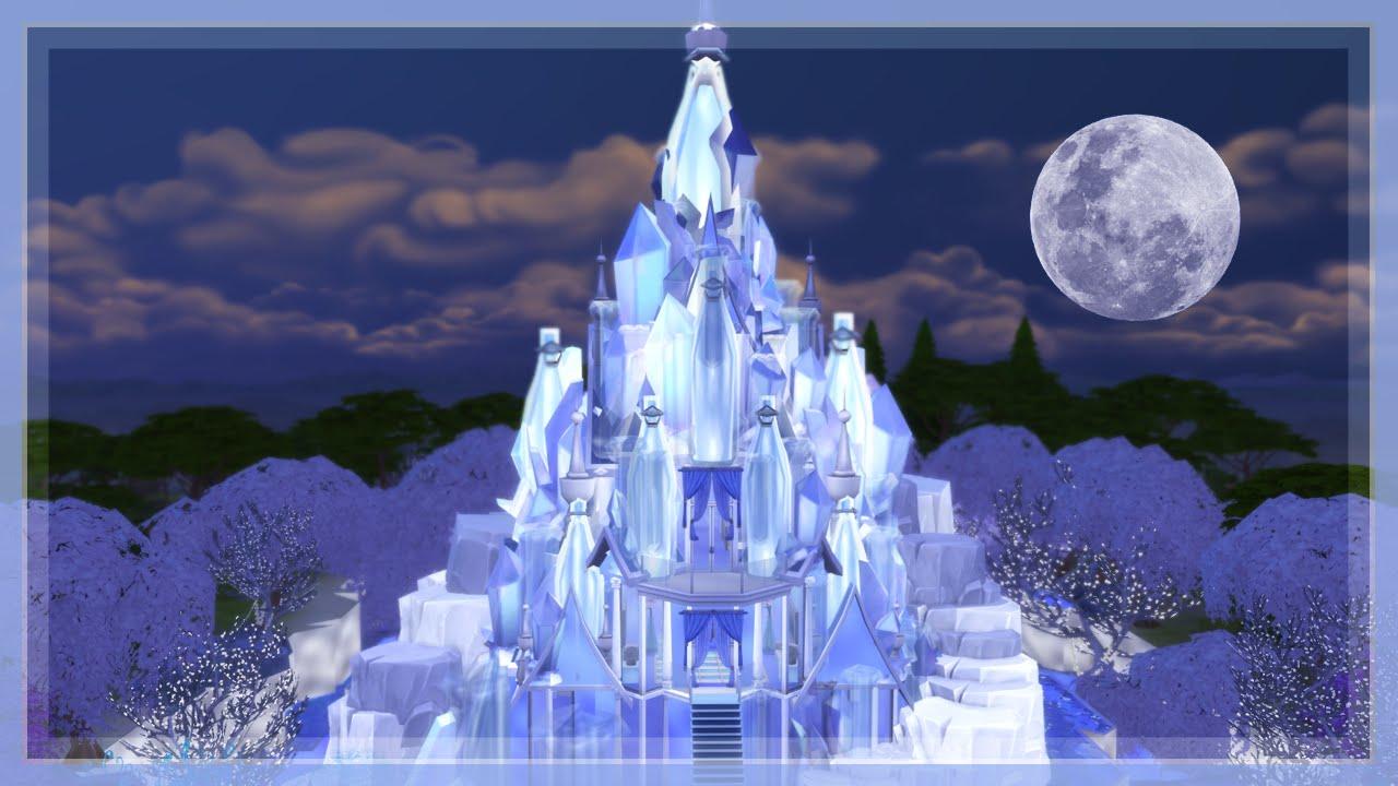 the sims 4  elsa's frozen castle speed build part 2  youtube