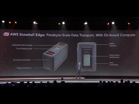 AWS re:Invent 2016: New AWS Snowball Edge, Petabyte-Scale Data Transport with On-Board Storage