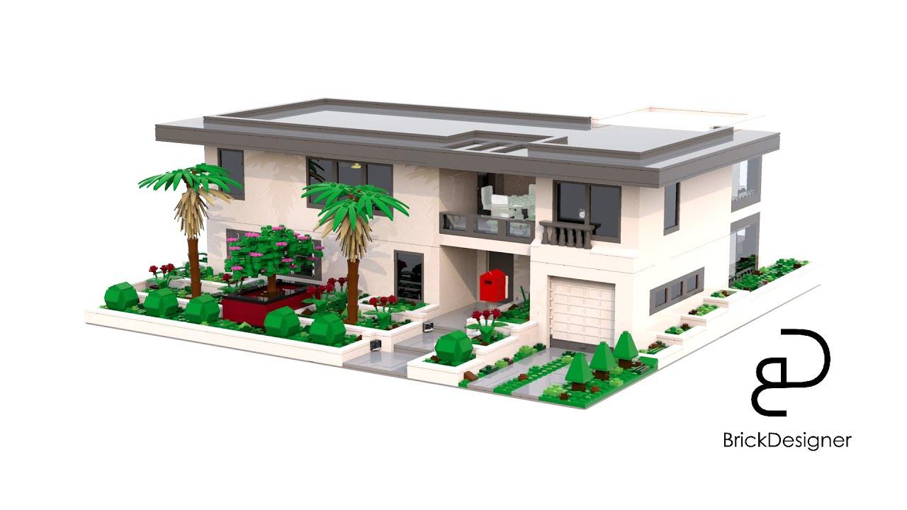 luxurious residence made in lego digital designer youtube. Black Bedroom Furniture Sets. Home Design Ideas