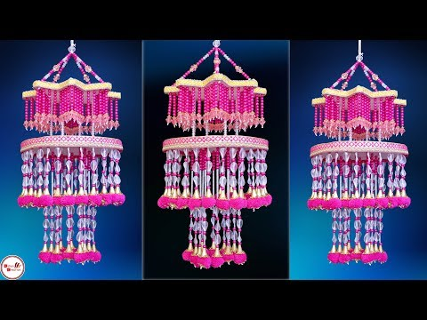 Amazing Pom Pom Star Jhumar || DIY Wall Hanging Craft || Home Decorating Idea