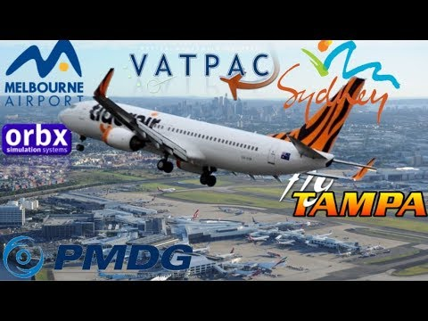 Tigerair Australia PMDG 737-800 flies to Melbourne to Vote #vicelection