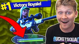 WINNING IN FORTNITE: BATTLE ROYALE WITHOUT TAKING ANY DAMAGE!