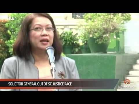 Solicitor General out of SC justice race