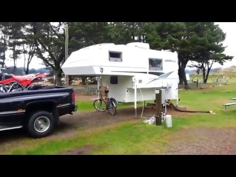 Camping Off The Truck In A Truck Camper Youtube