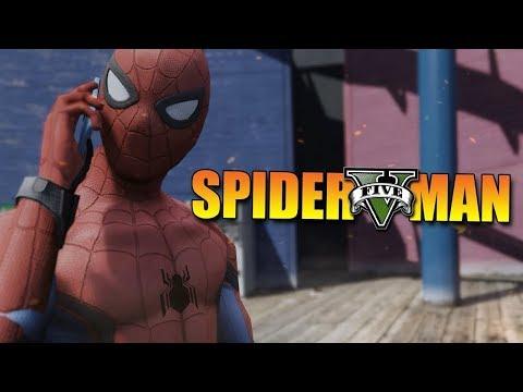 GTA 5 Mod - SPIDERMAN HOMECOMING !! - Momen Lucu GTA
