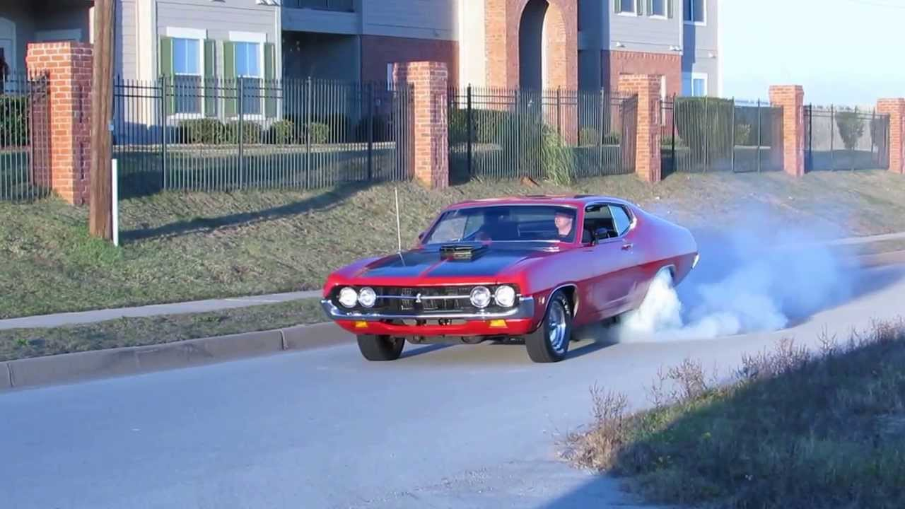 1971 torino cobra with a stock 460 burnout youtube