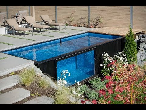 how to build a swimming pool from shipping container youtube. Black Bedroom Furniture Sets. Home Design Ideas