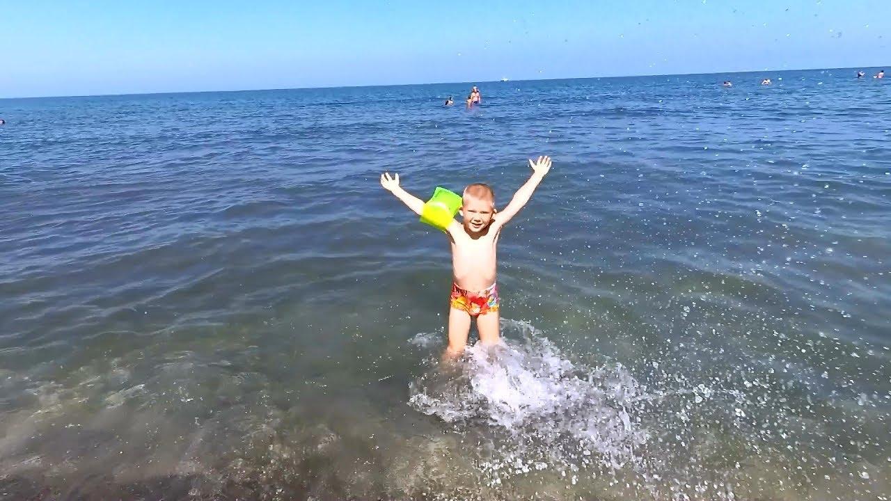 Отдых в Грузии! Песчаный пляж в Уреки,магнитные пески. Детский рай)