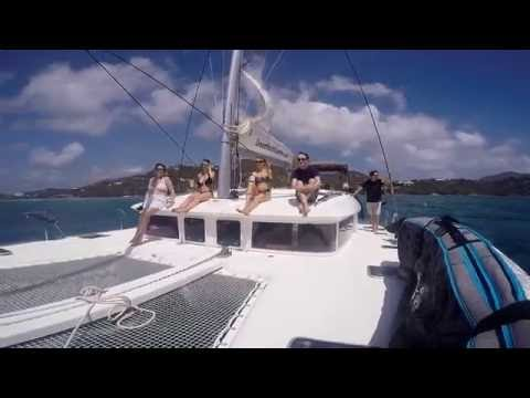 Sailing trip to the British Virgin Islands shot using GoPro