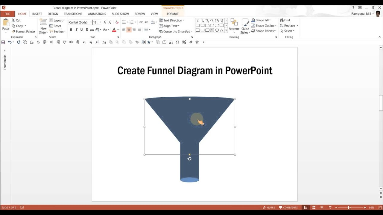 powerpoint funnel diagram : powerpoint diagram tutorial series, Modern powerpoint