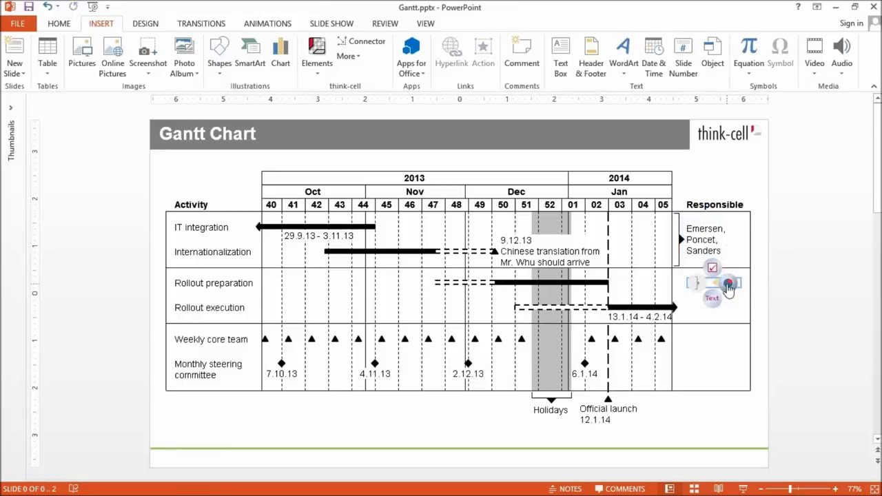 Gantt chart - YouTube