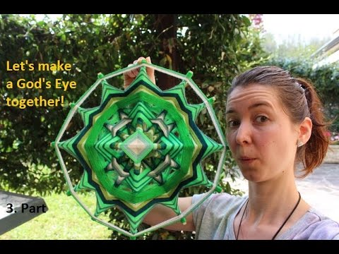 Let's make a God's Eye together (Ojos de Dios) - 3. Part