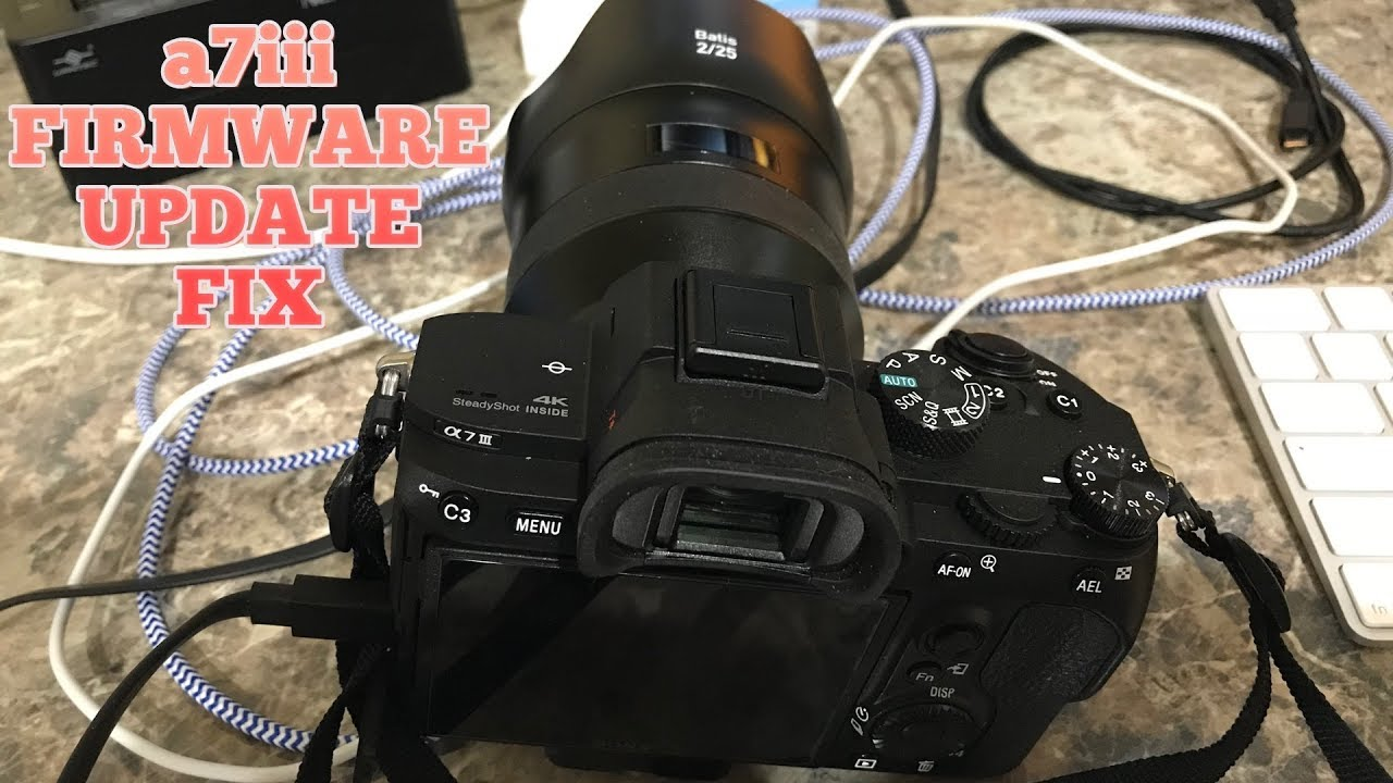 how to firmware update sony a7iii