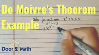*De Movire's Theorem:  z^3 + 8 =0?