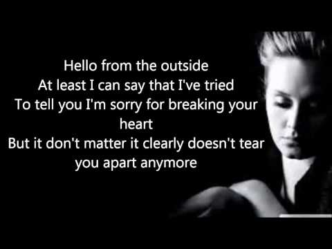 Adele - Hello (Official Lyrics Video) HD