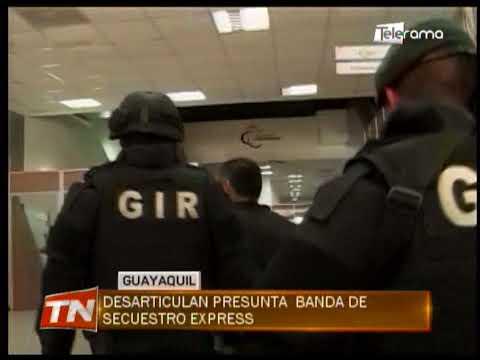 Desarticulan presunta banda de secuestro express