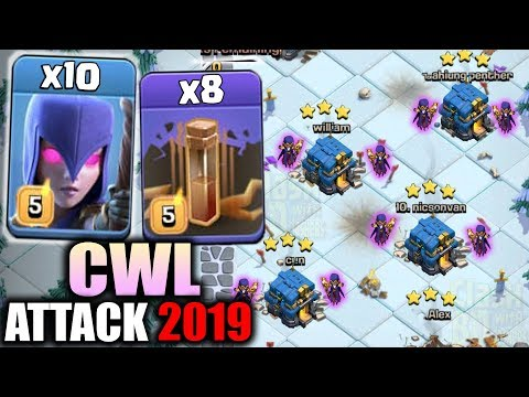 CWL Attack 2019! 10 Witch + Earthquake Spell Smashing 3Star CWL TH12 War Base | Clash Of Clan