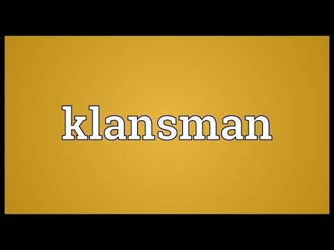 Klansman Meaning