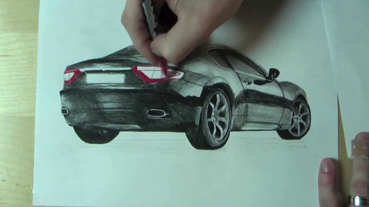 Wie zeichnet man ein Auto // How to draw a car AMAZING !!! - YouTube