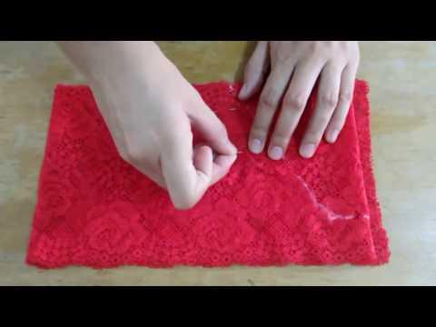 Como hacer una lenceria o panti de encaje- How to make a lace lengerie DIY