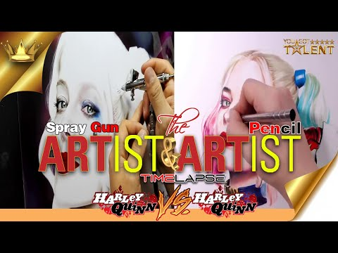 Harley Quinn Suicide Squad / Spray Gun Art / Sexy Harley painting / sexy women | You Got Talent
